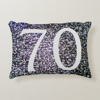 Born in 1947 Cool 70th Birthday Silver Design Accent Pillow