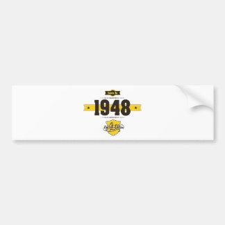 born in 1948 (choco&yellow) bumper sticker