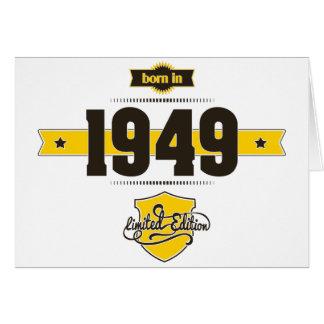 born in 1949 (choco&yellow) card
