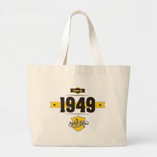 born in 1949 (choco&yellow) large tote bag