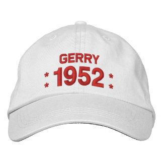 Born in 1952 or Any Year 65th Birthday W03C WHITE Embroidered Hat