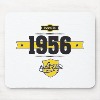 born in 1956 (choco&yellow) mouse pad
