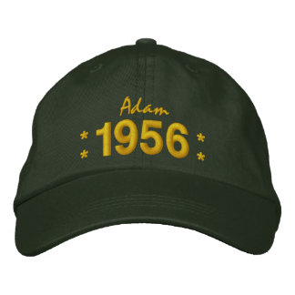 Born in 1956 or Any Year 60th Birthday V07C GREEN Embroidered Hat