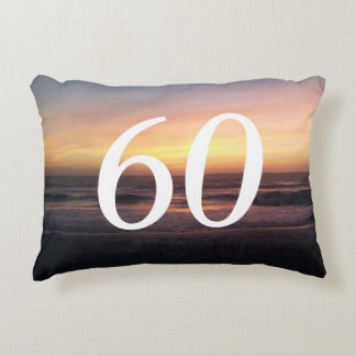 Born in 1957 Beautiful 60th Birthday Sunset Accent Pillow