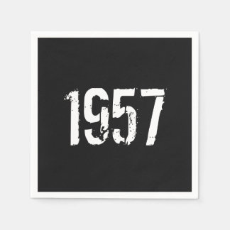 Born in 1957 Birthday Year Disposable Napkin