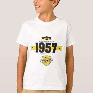 born in 1957 (choco&yellow) T-Shirt