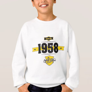 born in 1958 (choco&yellow) sweatshirt