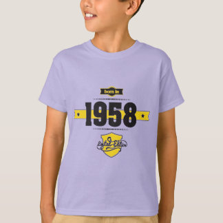 born in 1958 (choco&yellow) T-Shirt