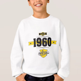 born in 1960 (choco&yellow) sweatshirt