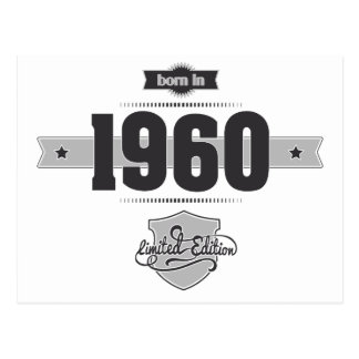 Born in 1960 (Dark&Lightgrey) Post Cards