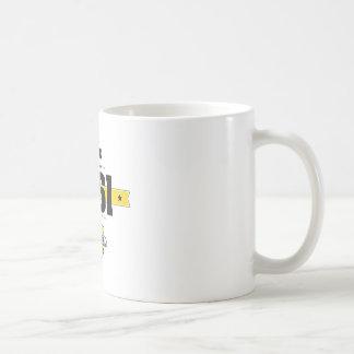 born in 1961 (choco&yellow) coffee mug