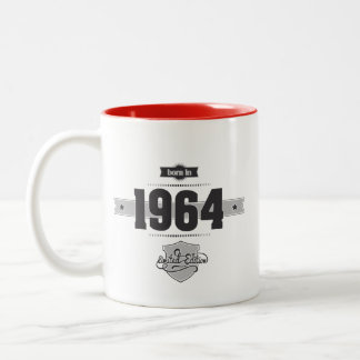 Born in 1964 (Dark&Lightgrey) Two-Tone Coffee Mug