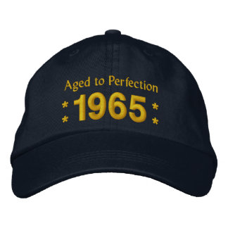 Born in 1965 AGED TO PERFECTION 50th Birthday V2F Embroidered Hat