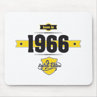 born in 1966 (choco&yellow) mouse pad