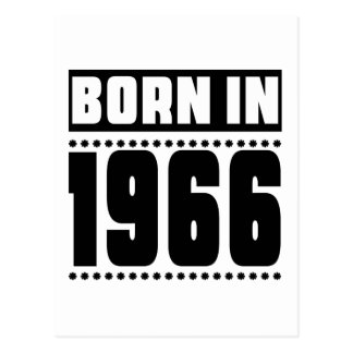 Born in 1966 postcard