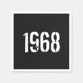 Born in 1968 Birthday Year Paper Napkins
