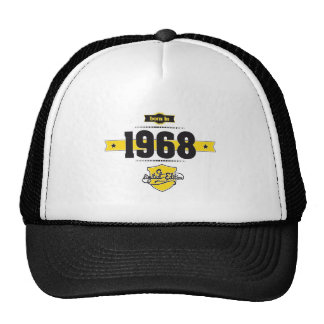 born in 1968 (choco&yellow) trucker hat