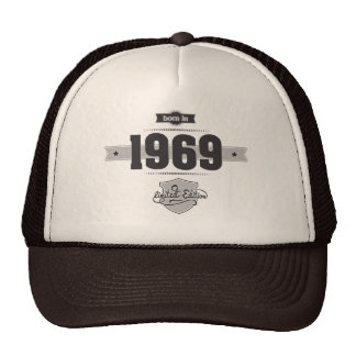 Born in 1969 (Dark&Lightgrey) Trucker Hat