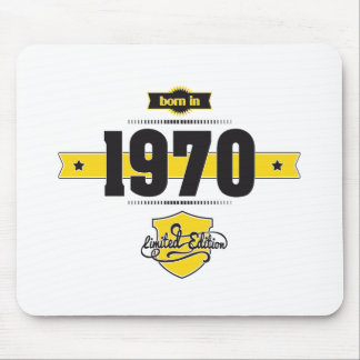 born in 1970 (choco&yellow) mouse pad