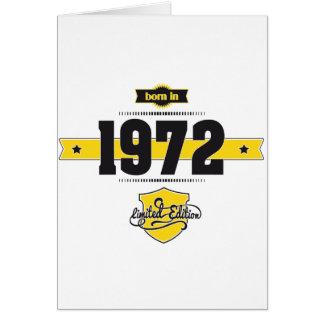 born in 1972 (choco&yellow) card