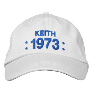 Born in 1973 or Any Year 45th Birthday W04E WHITE Embroidered Hat