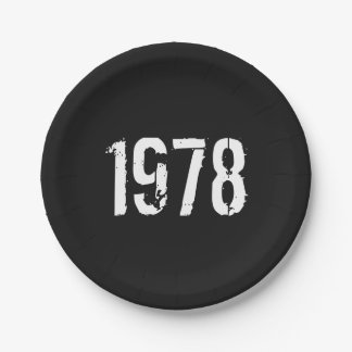 Born in 1978 40th Birthday Year Paper Plate
