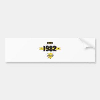 born in 1982 (choco&yellow) bumper sticker