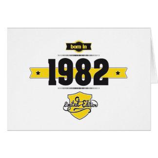 born in 1982 (choco&yellow) card