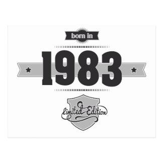 Born in 1983 (Dark&Lightgrey) Postcard