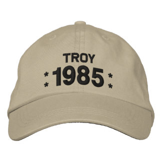 Born in 1985 or Any Year 30th Birthday W06F OLIVE Embroidered Hat