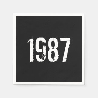 Born in 1987 30th Birthday Year Paper Napkin