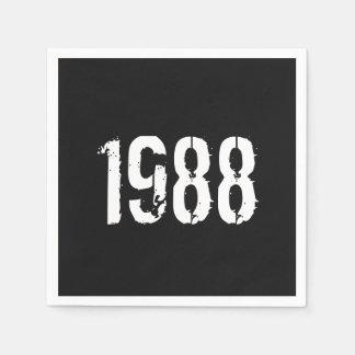 Born in 1988 Birthday Paper Napkin