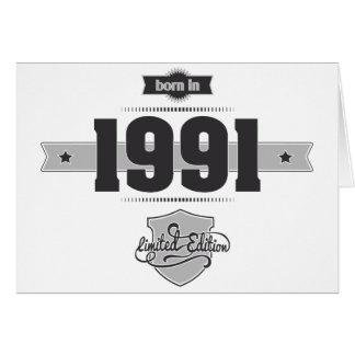 Born in 1991 (Dark&Lightgrey) Card