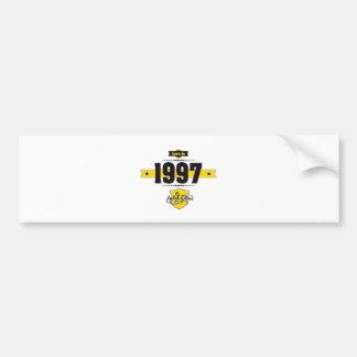 born in 1997 (choco&yellow) bumper sticker