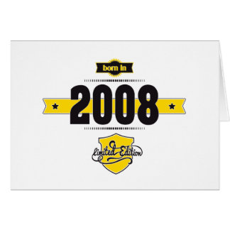 born in 2008 (choco&yellow) card