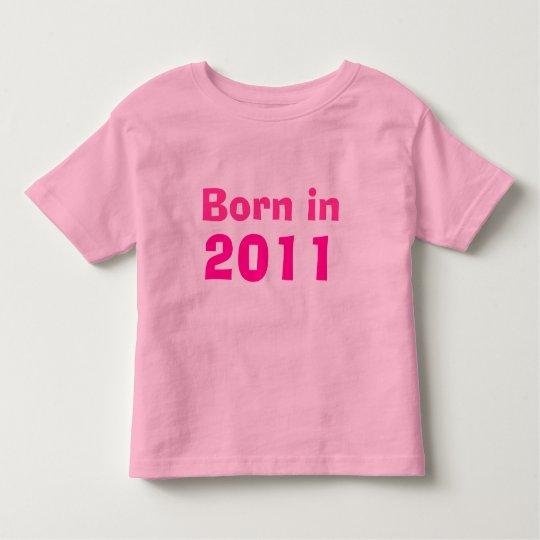Born in 2011 toddler t-shirt