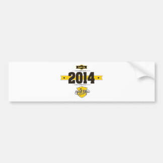 born in 2014 (choco&yellow) bumper sticker