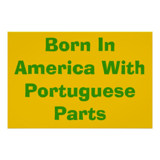 Born in America with Portuguese Parts Poster