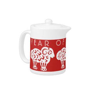 Born in custom Ram Year Chinese Zodiac Teapot