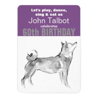 Born in Dog Year 1958 60th Birthday party invite