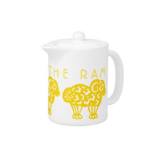Born in Earth Ram Year Chinese Zodiac Teapot