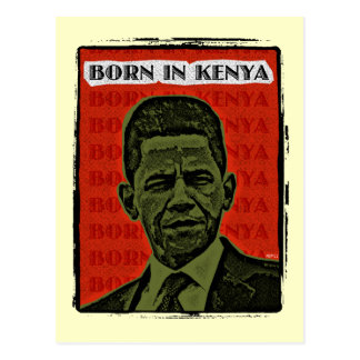 Born In Kenya Postcard