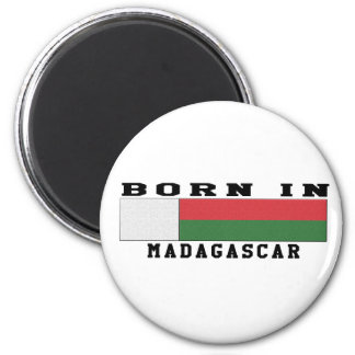 Born In Madagascar 2 Inch Round Magnet