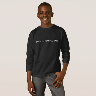 Born in Manhattan Kids LS T-Shirt
