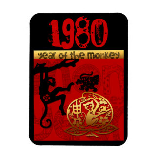 Born in Monkey Year 1980 - Chinese astrology Rectangular Photo Magnet