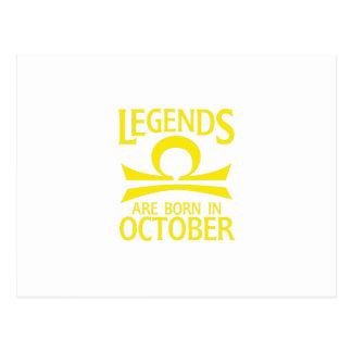 Born In October Libra Zodiac Sign Birthday Gif Postcard