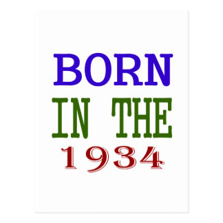 Born In The 1934 Postcard