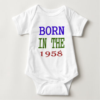 Born In The 1958 Baby Bodysuit