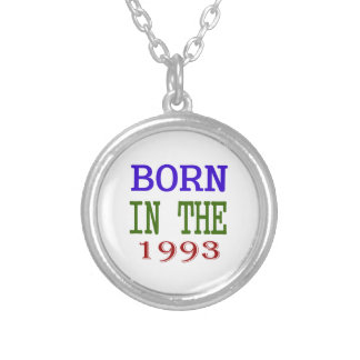 Born In The 1993 Silver Plated Necklace