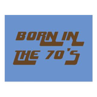 Born In The 70's Postcard